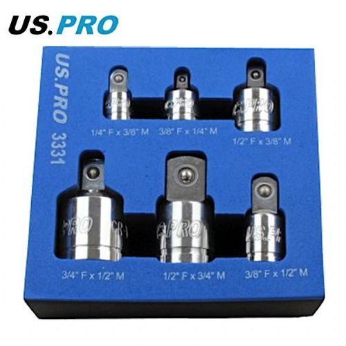 US Pro by Bergen Tools 6pc Socket Adaptor Set
